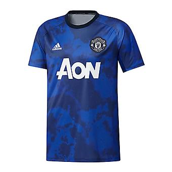 2019-2020 Man Utd Adidas pre-match training shirt (mysterie inkt)