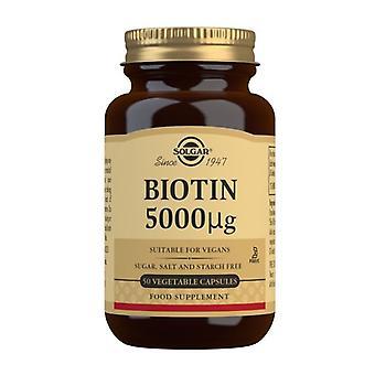 Solgar biotin 5000ug Vegicaps 50 (313)
