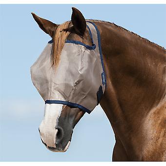 Amigo Mio Pony / horse Flymask fără urechi - Bleumarin de Bronz