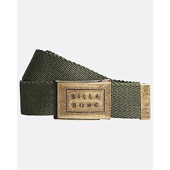 Billabong geweven katoen Web belt met fles opener ~ Sergeant Dark Military