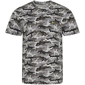 Kings Shropshire Light Infantry - Camiseta con estampado de camuflaje bordado del ejército británico con licencia