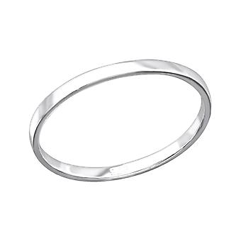 Band - 925 Sterling Silver Plain Rings - W26703x