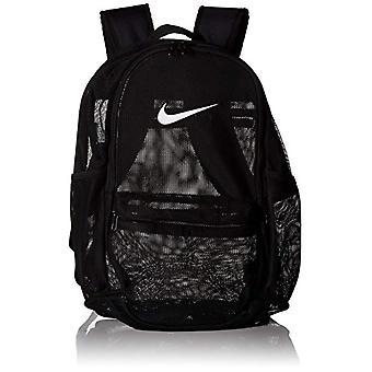 Nike NK Brsla mesh Bkpk-Unisex rugzakken Adult-zwart (zwart/zwart wit)-15x24x45 cm (b x H L)