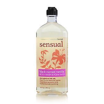 Baie & Body Works Aromaterapie Senzual coacăz negru Vanilie Body Wash 10 oz / 295 ml (Pachet de 2)