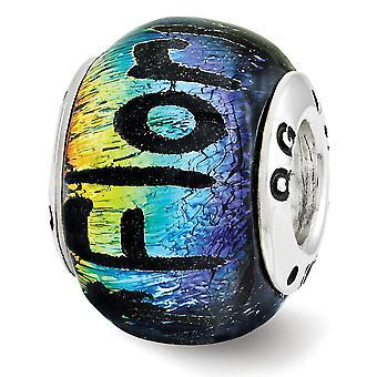 925 Plata esterlina Reflexiones Florida Dichroic vidrio perla encanto colgante collar regalos de joyería para las mujeres