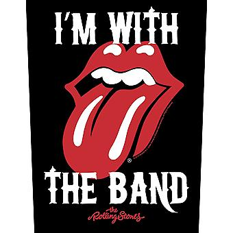 Rolling Stones I'm With The Band jumbo sized sew-on cloth backpatch 360mm x 290mm (rz)