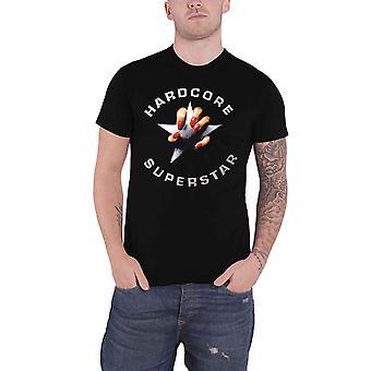 Hardcore Superstar T shirt zwart album band logo nieuwe officiële mens zwart