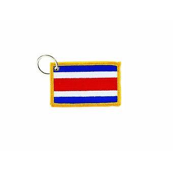 Porte Cle Cles Clef Brode Patch Ecusson Badge Drapeau Costa Rica Ricain