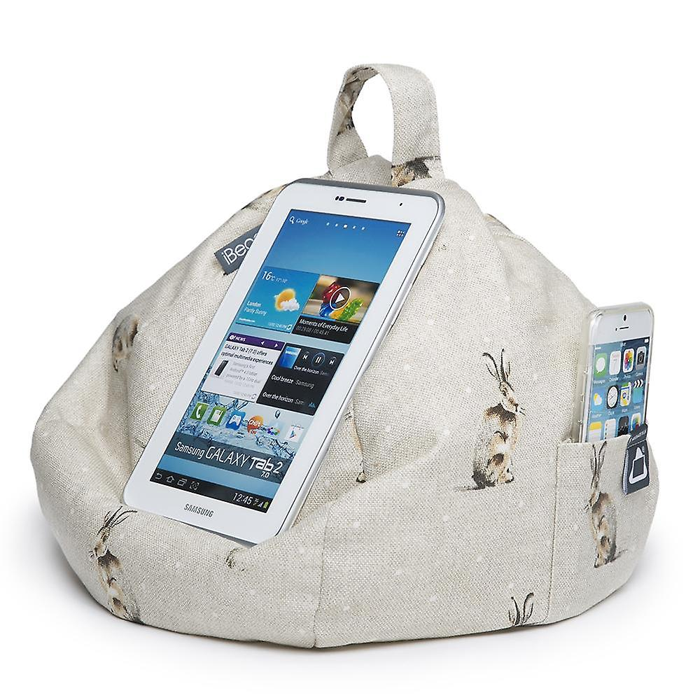Ipad, tablet & ereader bean bag stand by ibeani - hare