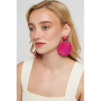 Louche Aquila Big Flower Earring Pink