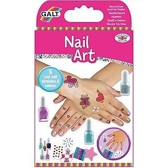 Galt Toys Nail Art - Nail Polish Kit Set Glitter Tatuaże Dzieci Dziewczyny Zabawa Aktywność