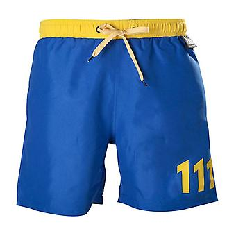 Fallout 111 Swim Trunks XL formaat blauw/geel (SH301002FOT-XL)