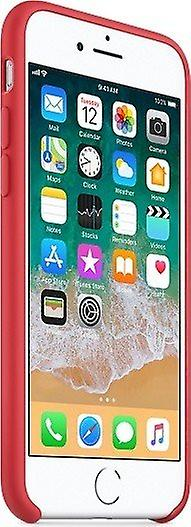 Original Packed MRFQ2ZM/A Apple Silicone Microfiber Cover Case for iPhone 8/7 - Red raspberry
