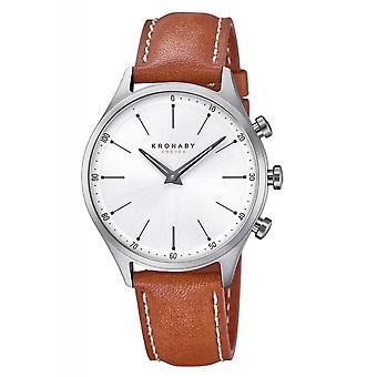 Kronaby S3125-1 Men's Sekel Smartwatch Silver Tone Dial