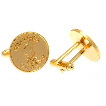Liverpool FC Champions of Europe Gold Plaqué Cufflinks