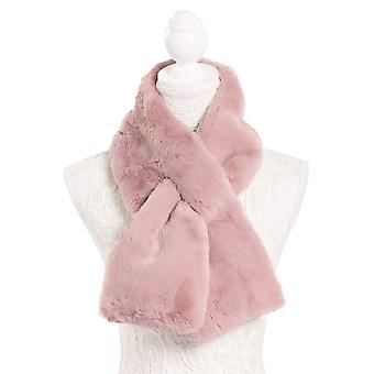 Eternal Collection Luxurious Faux Fur Pink Tippet Scarf