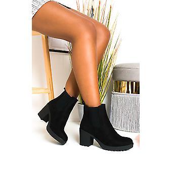 IKRUSH النساء بيتي فو سويد مكتنزة أحذية كعب