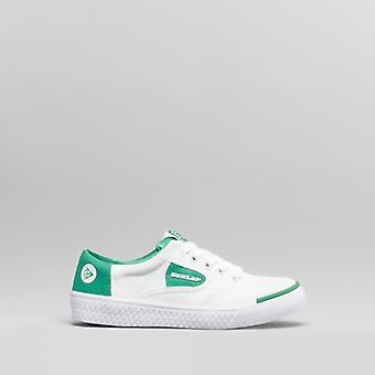 Dunlop Green Flash Unisex Kids Junior canvas sneakers wit/groen