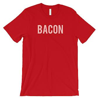 Bacon Letters mens rød T-skjorte