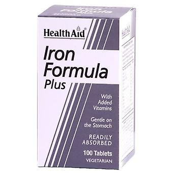 Health Aid Iron Complex Iron Formula Plus 100 Tablets