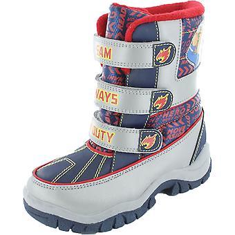 الأولاد الجدة رجل الاطفاء سام جحيم شخصية الكرتون الشتاء التمهيد صعبة الأحذية Uk5 الفضة الزرقاء