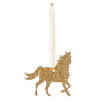 Gold Horse Style 7 Glitter  Christmas Decoration