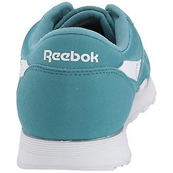 ريبوك كلاسيك نايلون حذاء رياضي، ضباب معدني / أبيض، 3 م الولايات المتحدة