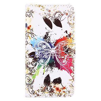 Für iPhone 8 PLUS, 7 PLUS Brieftasche Fall, Kristall Schmetterling schützende Lederabdeckung