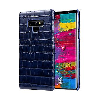 For Samsung Galaxy Note 9 Case,Crocodile Genuine Leather Mobile Phone Cover,Blue