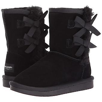 Kinderen Koolaburra meisjes Victoria Suede enkel slip op sneeuw laarzen