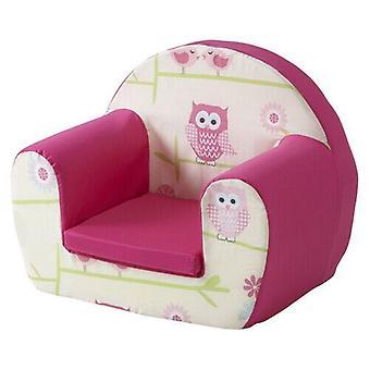 Gufi Twit 2o Rosa Bambini Bambini Comfy Schiuma Sedia Toddlers Poltrona Sedile Ragazze