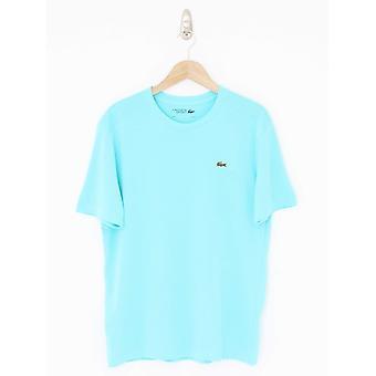 Lacoste Sport Classic Crew Neck Logo T-Shirt - Haiti Blue