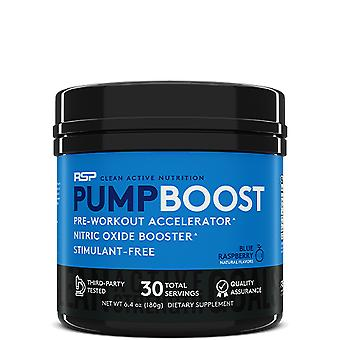 Rsp pump boost, pre-workout, nitric oxide booster, stimulant free (blue raspberry, 30 servings)