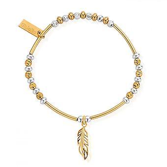 ChloBo Gold & Silber funkeln filigrane Feder Armband