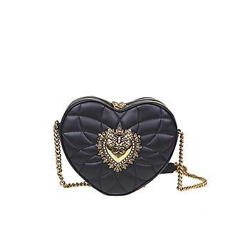 Dolce E Gabbana Bb6841av96780999 Women's Black Leather Shoulder Bag