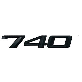 Matt Black BMW 740 Car Badge Emblem Model Numbers Letters For 7 Series E38 E65 E66E67 E68 F01 F02 F03 F04 G11 G12