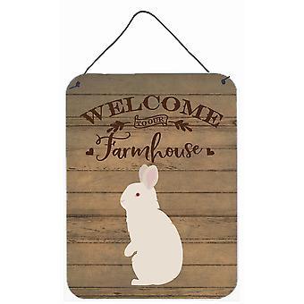 New Zealand White Rabbit Welcome Wall or Door Hanging Prints
