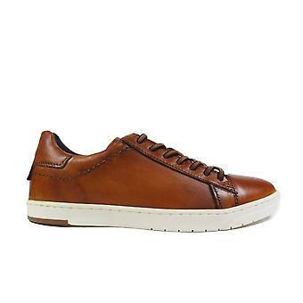 Bugatti 321-91801-6300 Tan Leather Mens Lace Up Casual Trainers