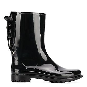 Laced Back Rain Boots