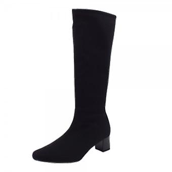 Peter Kaiser Oswana Pull On Stretch Knee High Boots In Black
