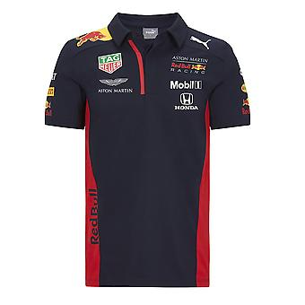 Aston Martin Red Bull Racing Kid's Puma Replica Team Polo Camicia Proprietà Navy . 2020