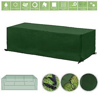 Protector de la cubierta de la cubierta de la cubierta del mueble al aire libre resistente al agua verde para el sofá del jardín de 3 plazas