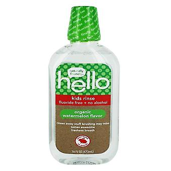 Hello kids rinse fluoride free, no alcohol, mouthwash, watermelon, 16 oz