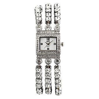 Eton Womens Stone Set 3 strand bracelet Watch, Real Mop Dial - 3060L-CH