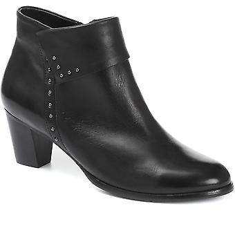 Regarde Le Ciel Studded Leather Ankle Boot