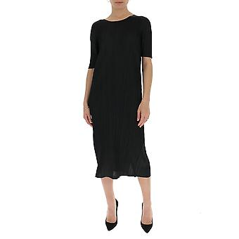 Issey Miyake Pleats Please Pp06jh66515 Women's Black Cotton Dress