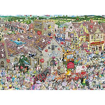 Gibsons Jigsaw Puzzle - I Love Weddings by Mike Jupp, 1000 Piece