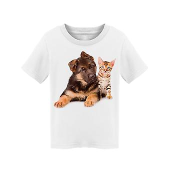Bengal Kitty German Shepherd Pup Tee Toddler's -Image by Shutterstock