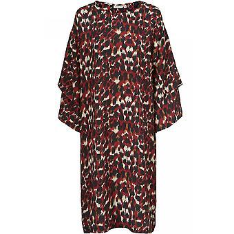 Masai Clothing Nonny Red Animal Print Dress