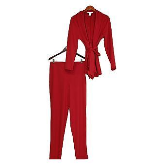 K Jordan Plus Set Wrap Style Jacket & Pants True Red